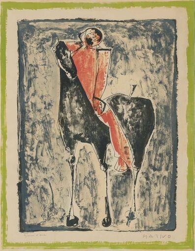 Marino Marini, 'CAVALIER ROUGE (GUASTALLA L46)', 1953