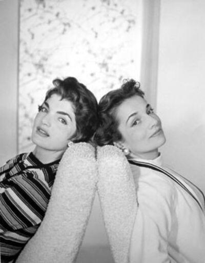 Horst P. Horst, 'Jacqueline Bouvier and her sister Lee Radizwill, New York', 1958