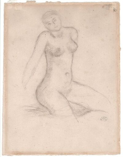 Aristide Maillol, 'Nu assise', not dated