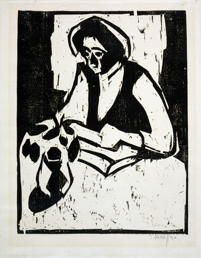 Karl Schmidt-Rottluff, 'Woman at the Table', 1910