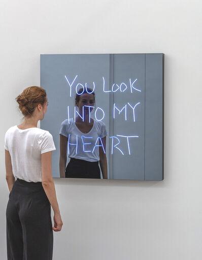 Jeppe Hein, 'YOU LOOK INTO MY HEART (handwritten)', 2018