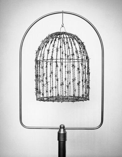Chema Madoz, 'Untitled- (barbed wire bird cage)', 2003