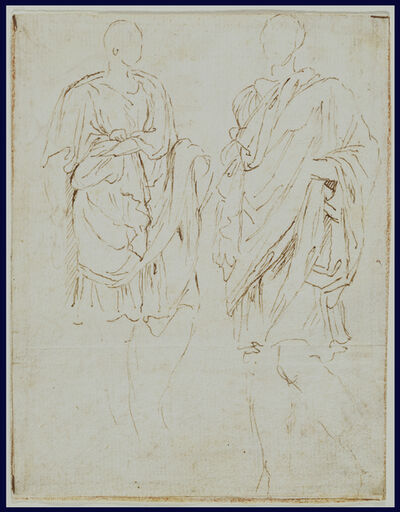 Nicolas Poussin, 'Two Studies of an Ancient Statue (recto), Scylla and a Centaur (verso)', 1645