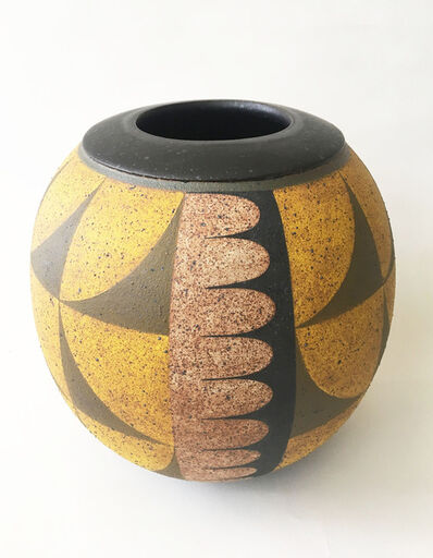 Kat Hutter, 'Painted Vessel, Black Glaze (2)', 2019