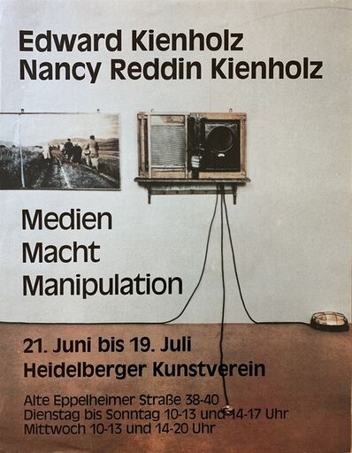 Edward Kienholz, 'Untitled (Vintage Poster for Medien, Macht, Manipulation)', 1987