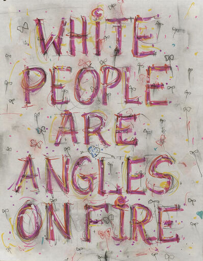 Pope.L, 'Skin Set Drawing: White People Are Angles On Fire', 2004