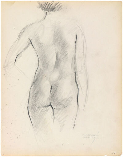 Charles White, 'STANDING NUDE FROM REAR'