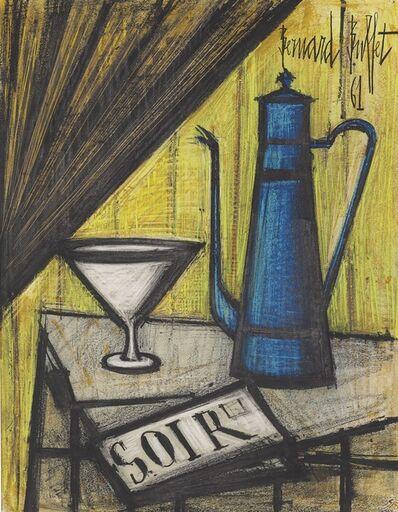 Bernard Buffet, 'Nature morte à la cafetière bleue', 1961