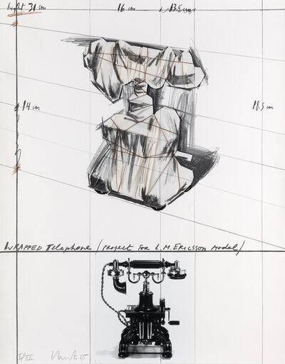Christo, 'Wrapped Telephone, Project for L. M. Ericsson Model', 1985