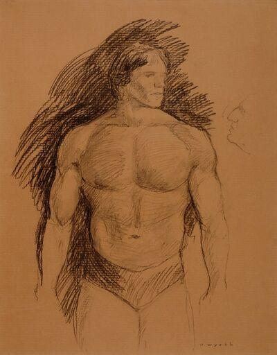 Jamie Wyeth, 'Arnold Schwarzenegger', 1977