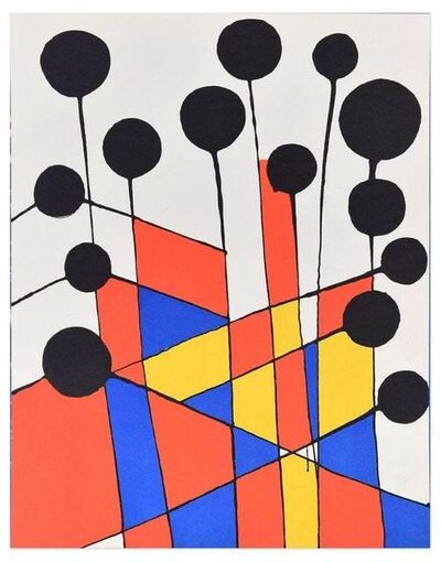 Alexander Calder, 'Mosaique Et Ballons Noirs', 1971