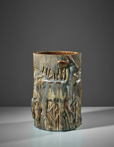 Axel Salto, 'Rare 'Three Deers in a Cornfield' vase', designed 1929-executed 1930