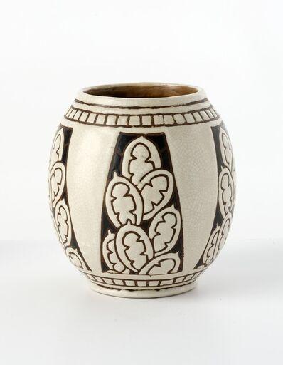Charles Catteau, 'Feuilles et CactusFine Art Deco Vase', ca. 1925