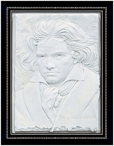 Bill Mack, 'Bill Mack Bonded Sand Relief Sculpture Large Original Signed Artwork Beethoven', Late 20th Century