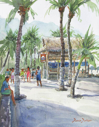 Donna Dickson, 'Morning Walk Puerto Vallarta'