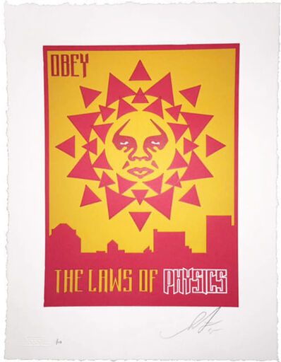 Shepard Fairey, 'The Laws of Physics Letterpress (Variant)', 2015