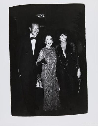Andy Warhol, 'Andy Warhol, Photograph of Halston, Martha Graham, and Liza Minnelli, 1981', 1981