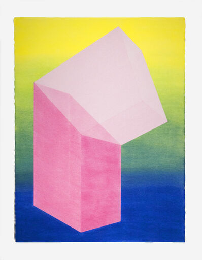 Brant Ritter, 'Accidental Happiness (Vertical) Yellow Gradient + Pink', 2017