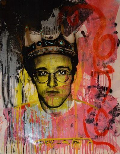 Skyler Grey, 'King Haring (Yellow Face)', 2014