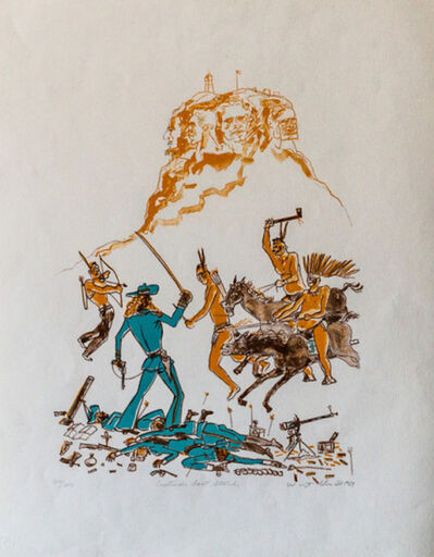 Warrington Colescott, 'A Wild West: Custard's Last Stand', 1969
