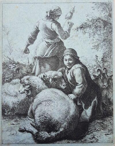 Francesco Londonio, 'Shepherdess with Sheep and Goat', 1759