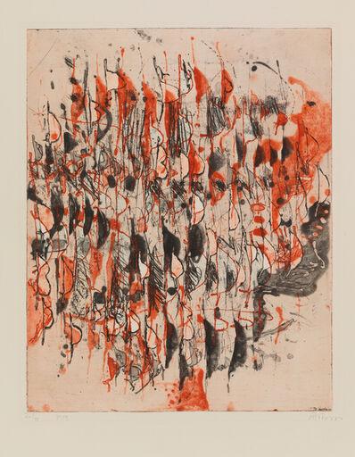 Gerhard Hoehme, 'ZWISCHEN SCHWARZ UND ROT - ', 1959/60