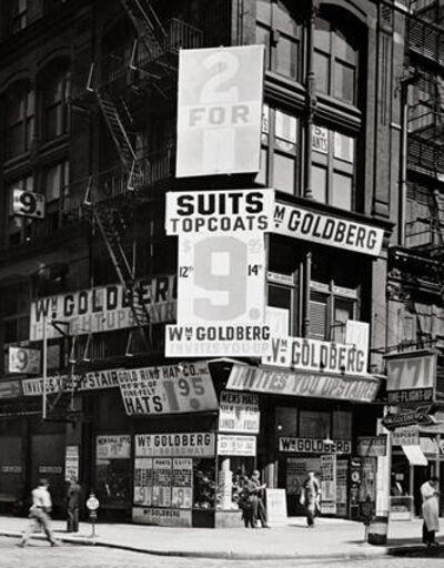 """Berenice Abbott, 'William Goldberg (from the series """"Changing New York"""")', 1936"""