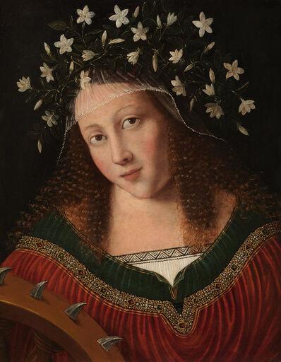 Bartolomeo Veneto, 'St Catherine Crowned', ca. 1520