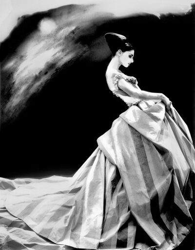 Lillian Bassman, 'Night Bloom, Anneliese Seubert, ball gown by John Galliano for Haute Couture Givenchy, Paris', 1996