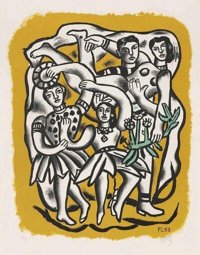 Fernand Léger, 'Les Danseuses (Fond Jaune)', 1954