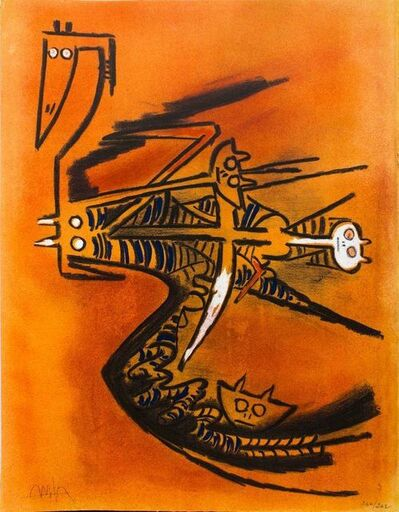 "Wifredo Lam, 'Soeur de la Gazelle - from the suite ""Pleni Luna""', 1974"