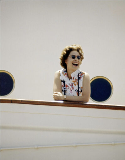 Patrick Lichfield, 'The Queen on Board Britannia, Indian Ocean', March 1972