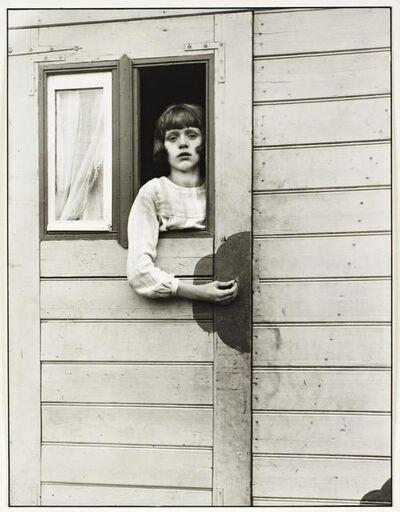 August Sander, 'Girl in Fairground Caravan', 1926