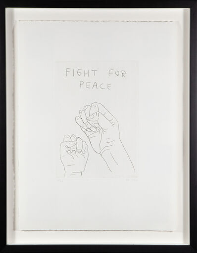 David Shrigley, 'Fight for Peace', 2014