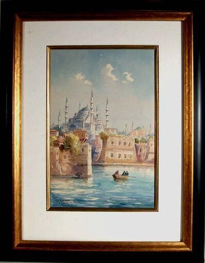Serif Renkgorur, 'Mosque in Istanbul Harbor', 1937