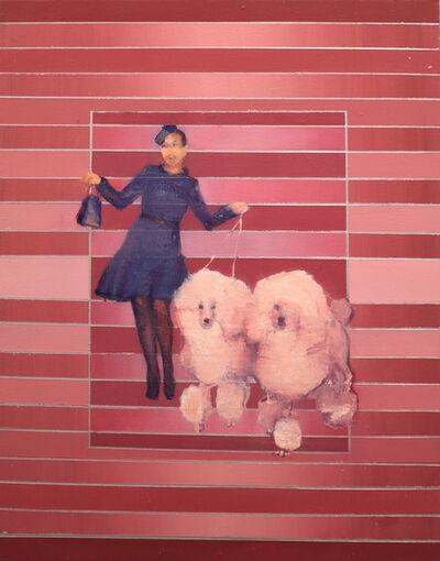 Tom Birkner, 'Woman with Poodles', 2018