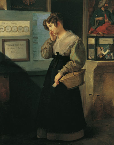 Peter Fendi, 'Girl in front of the Lottery Vault', 1829