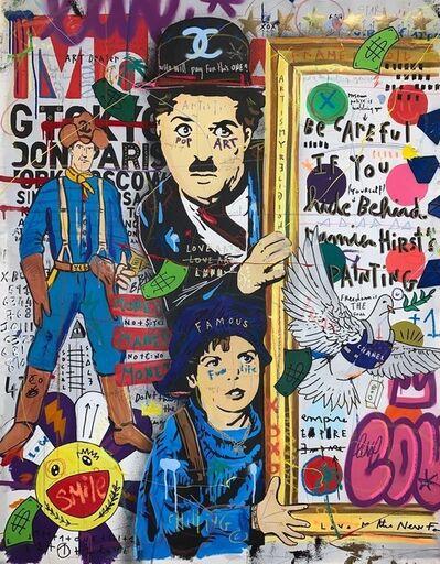 Jisbar, 'Chaplin at the Museum', 2020