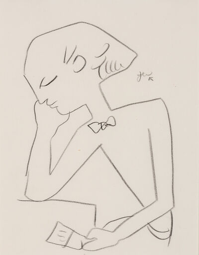 Jean Cocteau, 'Man Reading'
