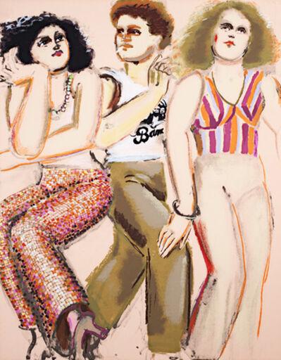 Lester Johnson, 'Street Scene Portfolio -2 Women & Man with Band T-Shirt', 1979