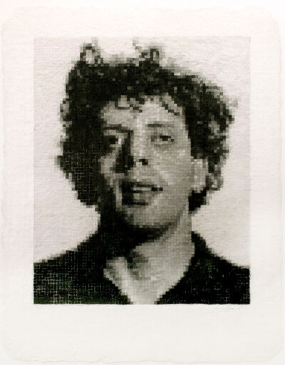 Chuck Close, 'Phil I (White)', 1982