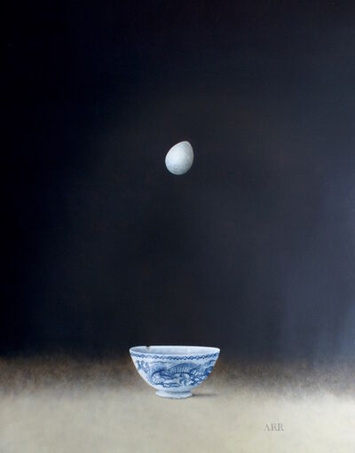 Alison Rankin, 'Blue Dragon Bowl with Falling Egg', 2018