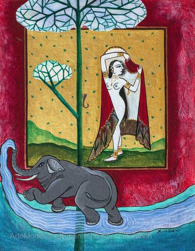 Alicia Leal, 'Quién conquistará el corazón de la bella mujer? / Who will Conquer the Heart of the Beautiful Woman?', 2011