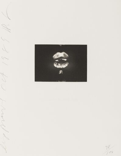 Donald Sultan, 'Lip Prints', 1989