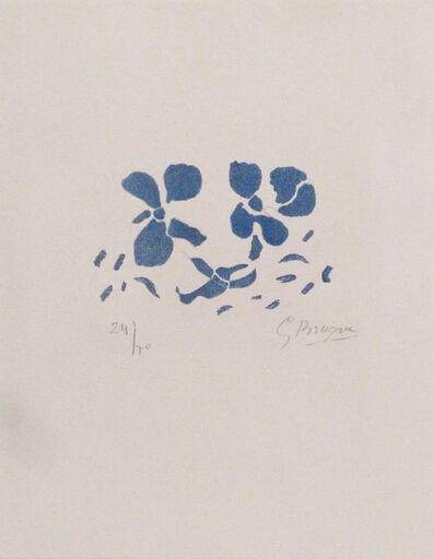 """Georges Braque, 'Fleurs bleues """"Si je mourais là-bas""""', 1962"""