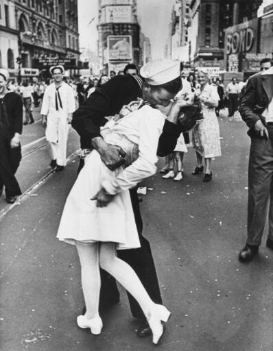 Alfred Eisenstaedt, 'V-J Day Kiss, Times Square, New York.', 1966-72