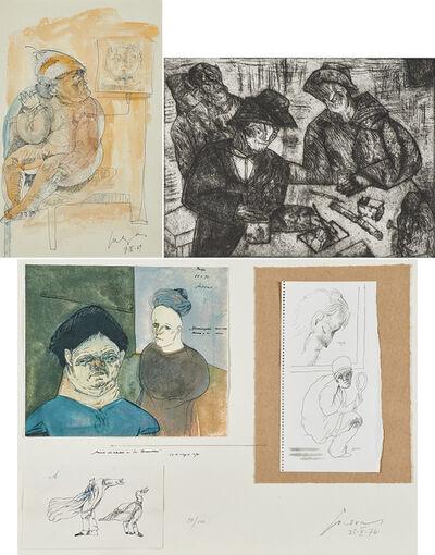 Jose Luis Cuevas, 'Three works of art: Untitled; En la Mesa (On the Table); Untitled'