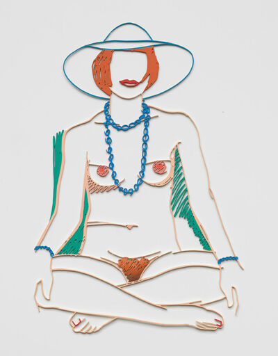 Tom Wesselmann, 'Monica Cross Legged with Beads', 2004