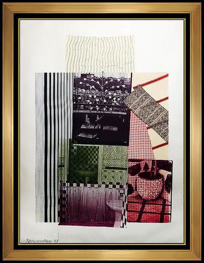 Robert Rauschenberg, 'Robert Rauschenberg Large Color Lithograph Original Hand Signed Morocco Artwork', 1970-1989
