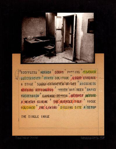 Leandro Katz, 'The Single Image', 1970